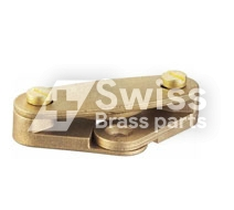 Brass DC Earthing Clip