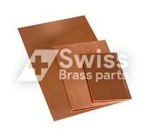 Solide Kupferplatte